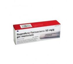 IBUPROFENO FARMASIERRA TOPICO (50 MG/G GEL TOPICO MENTOLADO 60 G )